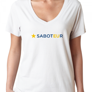 Ladies V Neck Saboteur T-Shirt