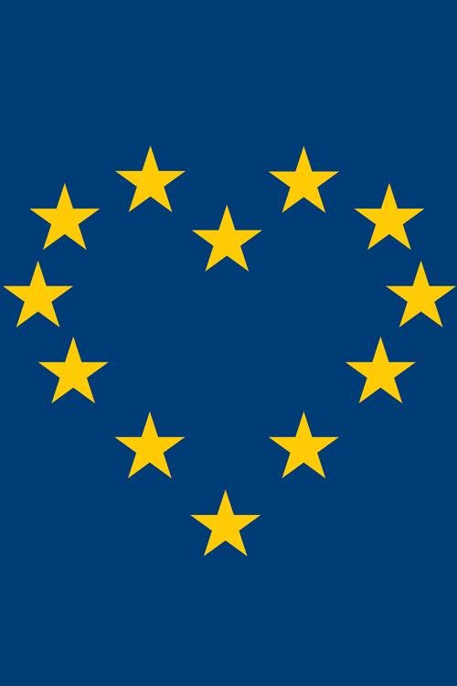 "A4 ""EU Heart"" Poster"