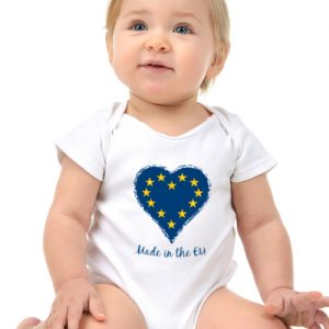 Made in the EU – 100% Cotton Babygrow