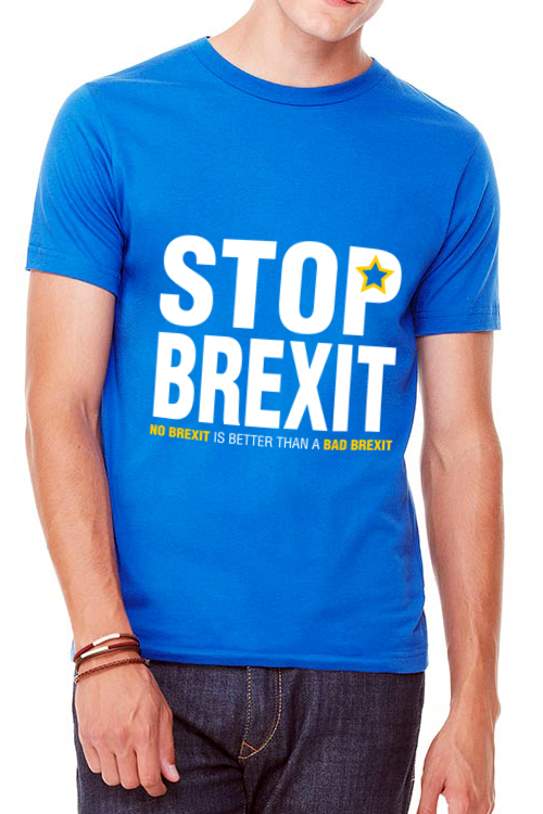 Stop Brexit – Unisex Crew Neck T-Shirt