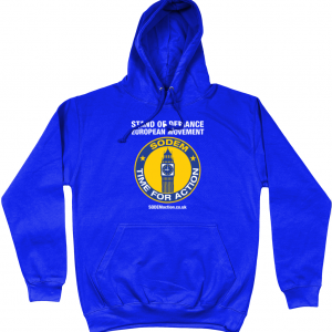 SODEM Action Hoodie with EUnion Flag on reverse